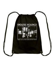 Vegan animal right endless violence  Drawstring Bag thumbnail