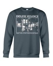 Vegan animal right endless violence  Crewneck Sweatshirt thumbnail