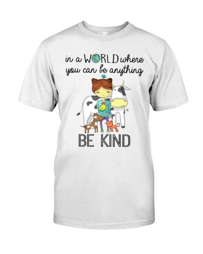 Vegan shirt in a world where you can e anything
