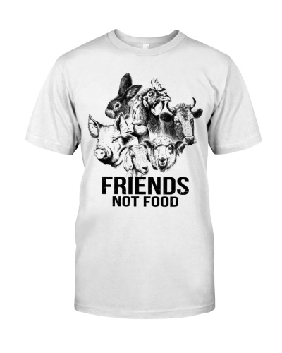 Vegan shirt friends not food