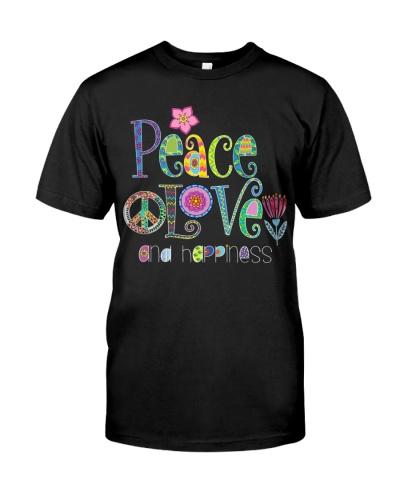 Vegan shirt peace love and happiness