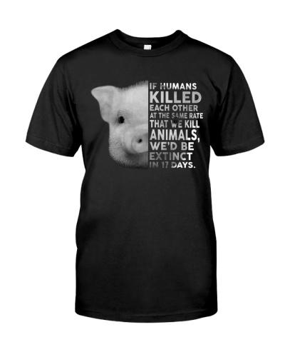 Vegan shirt if humans killed each other