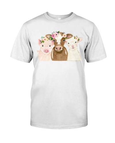 Vegan shirt pig cow sheep