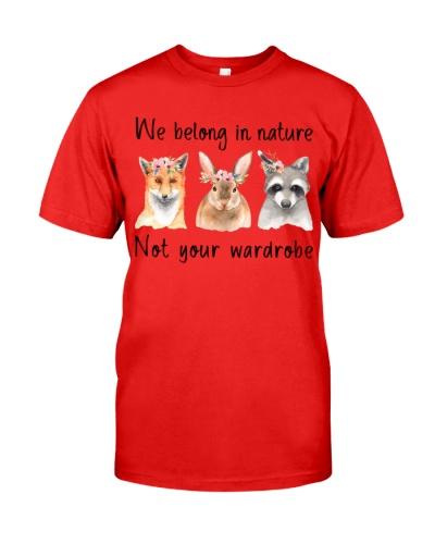 Vegan animal we belong in nature