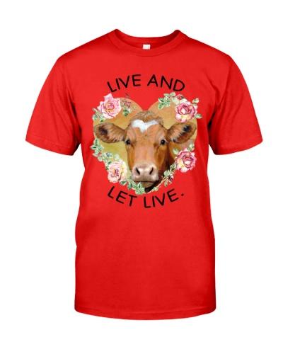 Vegan shirt live and let live