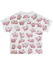 Vegan shirt cute lazy lovely pinky pig farm animal All-over T-Shirt back