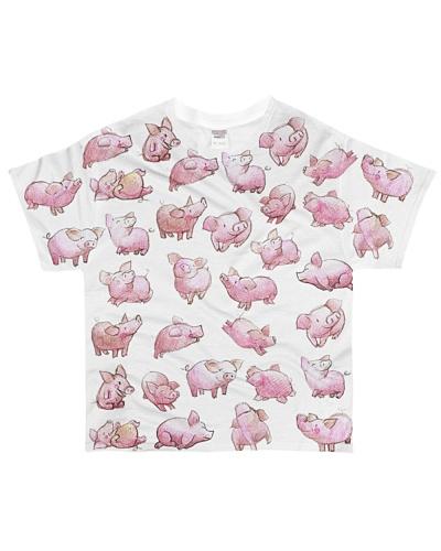 Vegan shirt cute lazy lovely pinky pig farm animal