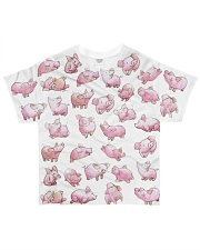 Vegan shirt cute lazy lovely pinky pig farm animal All-over T-Shirt front