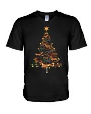 Dachshunds Christmas Shirt V-Neck T-Shirt thumbnail