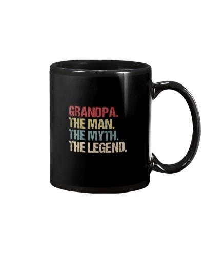 Grandpa Man Myth Legend Shirt For Grandfathers