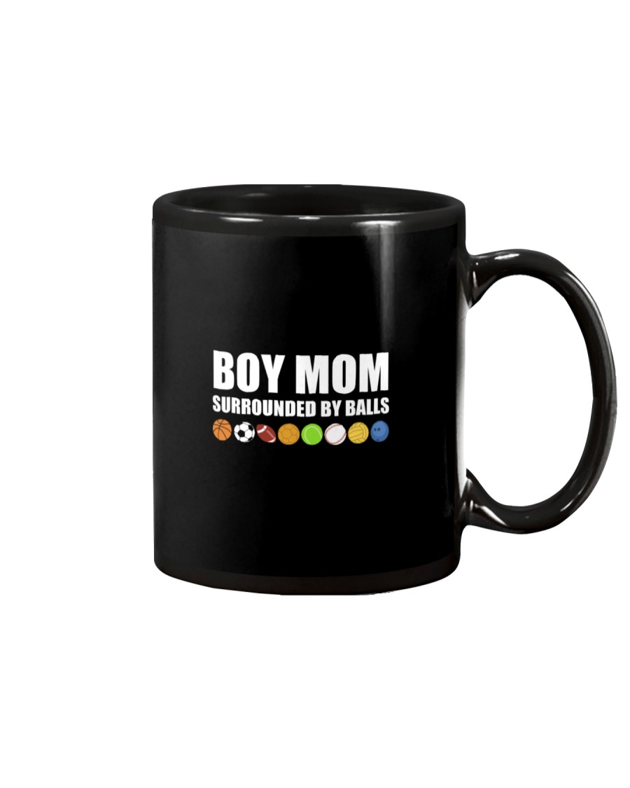 Boy mom surrounded by balls Mug