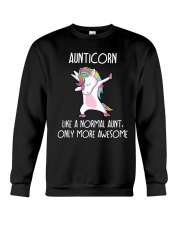 Aunticorn Like An Aunt Only Awesome Crewneck Sweatshirt thumbnail