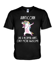 Aunticorn Like An Aunt Only Awesome V-Neck T-Shirt thumbnail