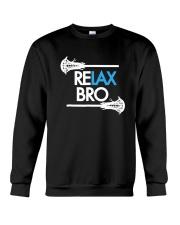RELAX Bro Lacrosse Shirt Funny LaX Team Lacrosse Crewneck Sweatshirt thumbnail