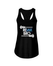 RELAX Bro Lacrosse Shirt Funny LaX Team Lacrosse Ladies Flowy Tank thumbnail