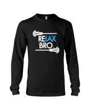 RELAX Bro Lacrosse Shirt Funny LaX Team Lacrosse Long Sleeve Tee thumbnail