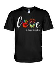 Love Grandma life Shirt Cute Grandma Gift V-Neck T-Shirt thumbnail