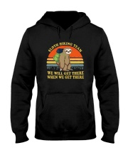 Sloth Hiking Team We Will Get There Hooded Sweatshirt thumbnail