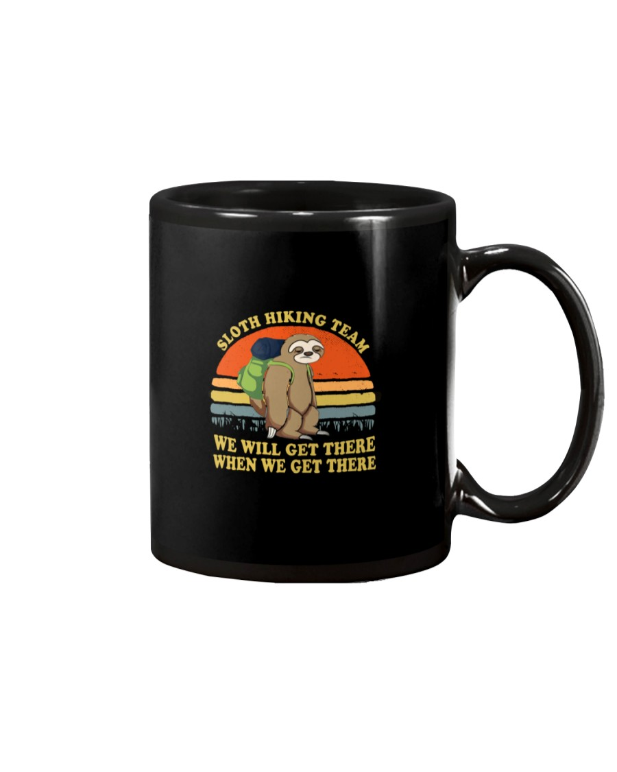 Sloth Hiking Team We Will Get There Mug