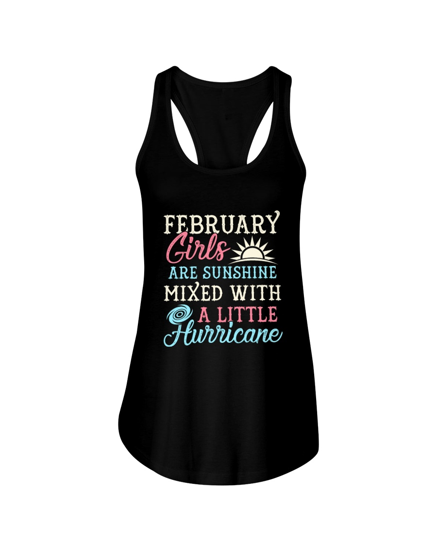 February Girl Birthday Gift Ladies Flowy Tank