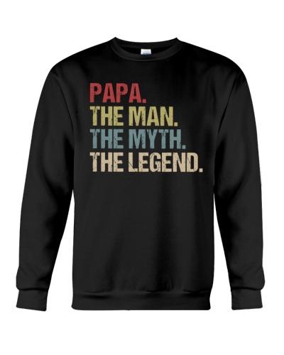 Papa Man Myth Legend Shirt For Mens Dad Father