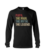 Papa Man Myth Legend Shirt For Mens Dad Father Long Sleeve Tee thumbnail