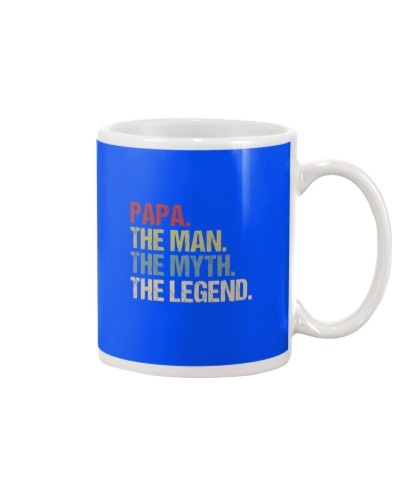 Papa Man Myth Legend Shirt For Mens Dad Father