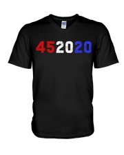 452020 Shirt 45 2020 Trump V-Neck T-Shirt thumbnail