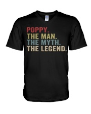 Poppy The Man The Myth The Legend V-Neck T-Shirt tile