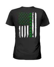 Irish American Flag Shirt St Patricks Day 2018 Ladies T-Shirt thumbnail