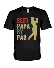 Best Papa by Par Funny Golf  V-Neck T-Shirt thumbnail