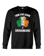 Time For Some Shenanigans Funny Patricks Day Crewneck Sweatshirt tile