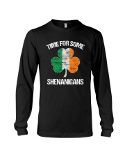 Time For Some Shenanigans Funny Patricks Day Long Sleeve Tee thumbnail