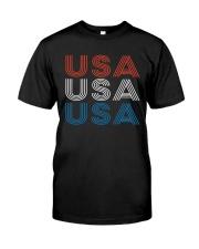 Vintage Retro Patriotic USA Classic T-Shirt thumbnail