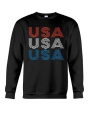 Vintage Retro Patriotic USA Crewneck Sweatshirt thumbnail
