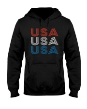 Vintage Retro Patriotic USA Hooded Sweatshirt tile
