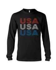 Vintage Retro Patriotic USA Long Sleeve Tee thumbnail