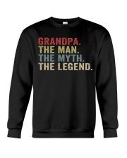 Grandpa The Man The Myth The Legend Crewneck Sweatshirt thumbnail