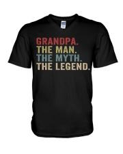 Grandpa The Man The Myth The Legend V-Neck T-Shirt thumbnail