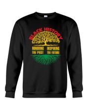 Honoring Past Inspiring Future Black History Month Crewneck Sweatshirt thumbnail