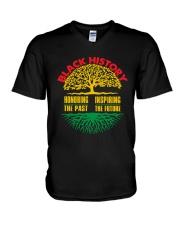 Honoring Past Inspiring Future Black History Month V-Neck T-Shirt thumbnail