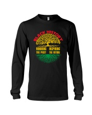 Honoring Past Inspiring Future Black History Month Long Sleeve Tee thumbnail