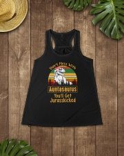 Don't Mess With Auntsaurus Ladies Flowy Tank lifestyle-bellaflowy-tank-front-6