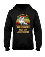 Don't Mess With Auntsaurus Hooded Sweatshirt thumbnail