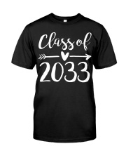 Class of 2033 Grow With Me First Day of School Classic T-Shirt thumbnail
