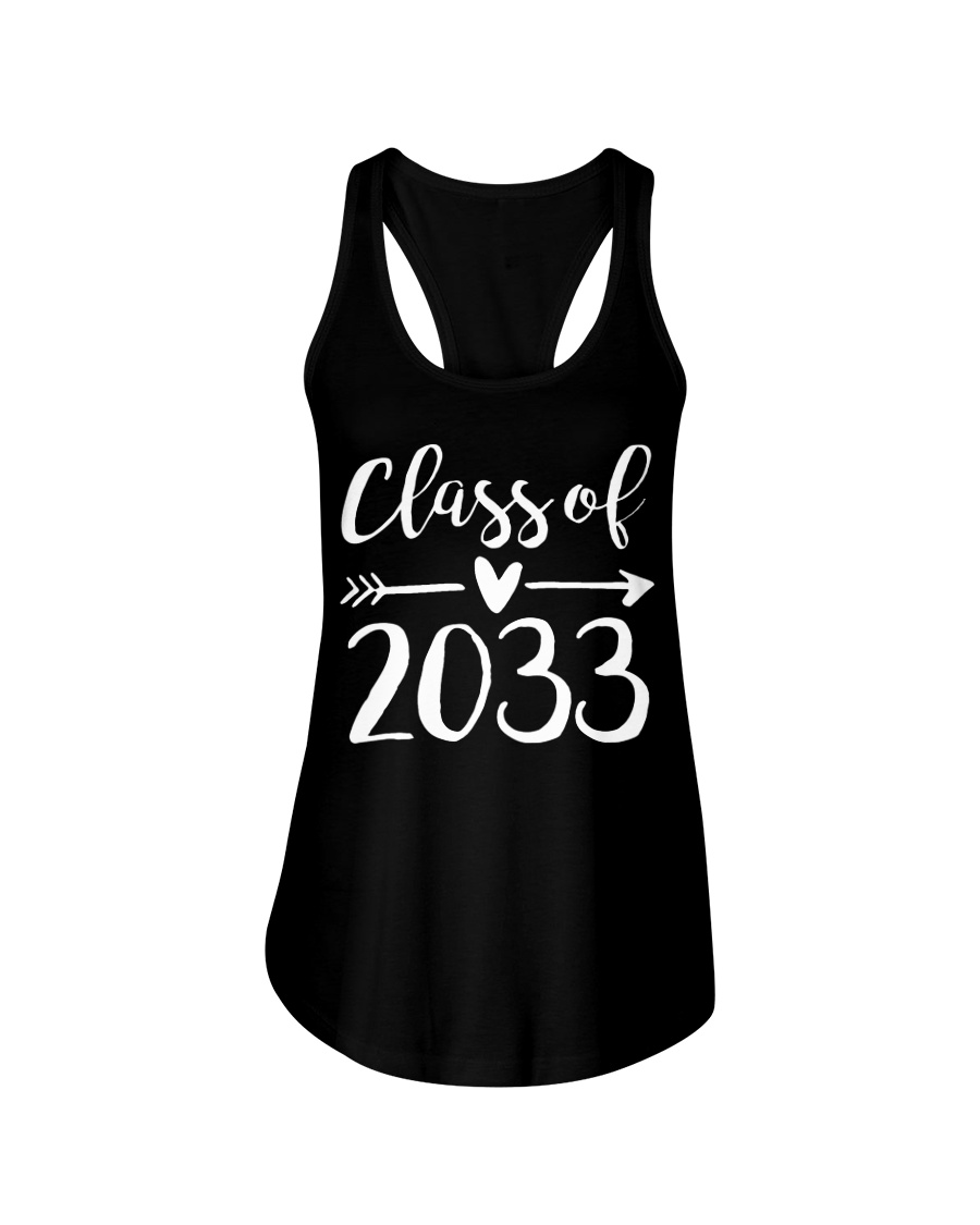 Class of 2033 Grow With Me First Day of School Ladies Flowy Tank