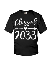 Class of 2033 Grow With Me First Day of School Youth T-Shirt thumbnail