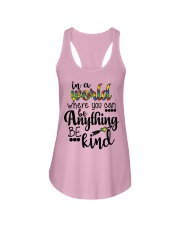 in a world where you can be anything be kind shirt Ladies Flowy Tank front