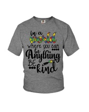 in a world where you can be anything be kind shirt Youth T-Shirt thumbnail