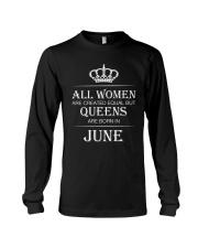 June Women Birthday Gift Long Sleeve Tee thumbnail